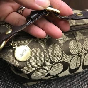 Coach Bags - Brown and gold small Coach handbag